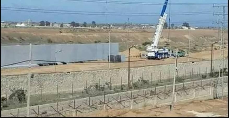السلطات المصرية تشرع ببناء جدار حدودي جنوب قطاع غزة