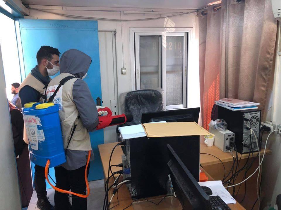 دائرة اللاجئين تواصل أنشطتها في المخيمات لمواجهة كورونا