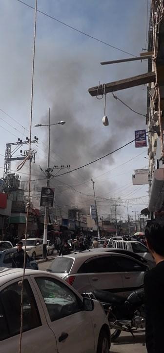 بالفيديو والصور: وفاة 9 مواطنين وإصابة العشرات بحريق هائل في مخيم النصيرات وسط قطاع غزّة