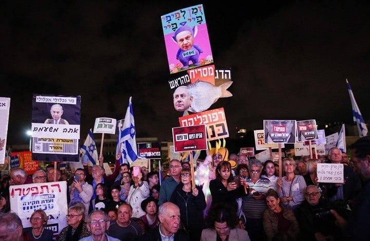شاهد: تظاهرة حاشدة في تل أبيب رفضاً لمخطط ضم أراضٍ فلسطينية