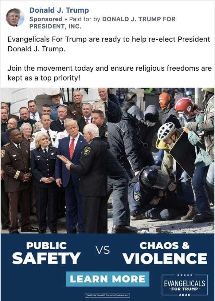 حملة ترامب للانتخابات تستخدم بالخطأ صورة حول احتجاجات أوكرانيا