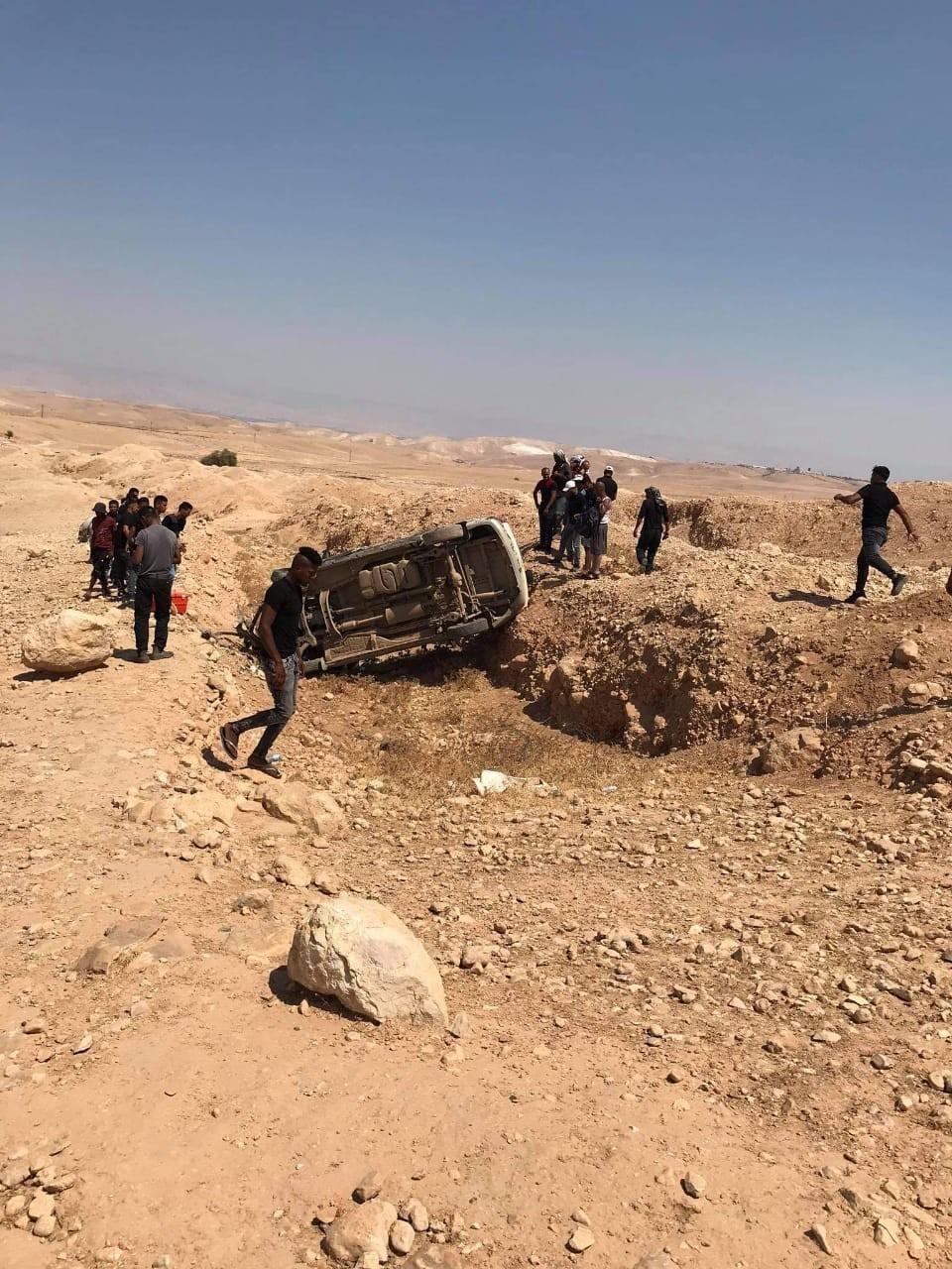 صورة: إصابة 6 مواطنين إثر حادث سير شمال أريحا