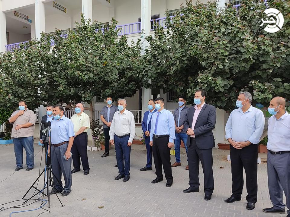 فيديو وصور: عودة طلبة الثانوية العامة لمدارسهم في غزّة بإجراءات وقائية