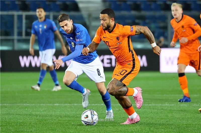 بالصور : المنتخب الايطالي و الهولندي رضيا بالتعادل