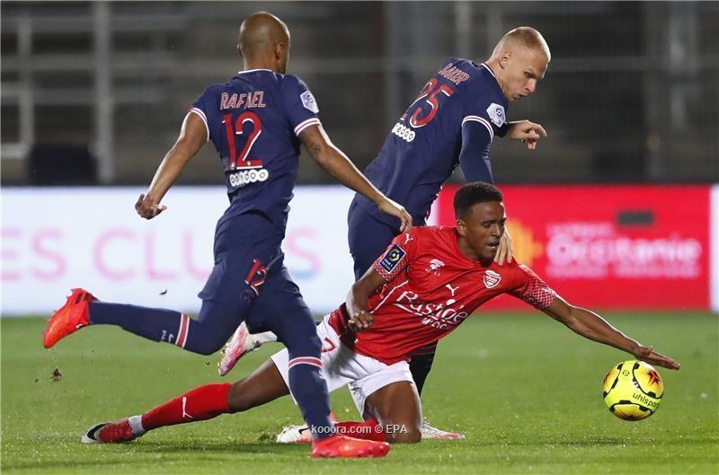 بالصور.. مبابي يقفز بسان جيرمان لصدارة الدوري الفرنسي