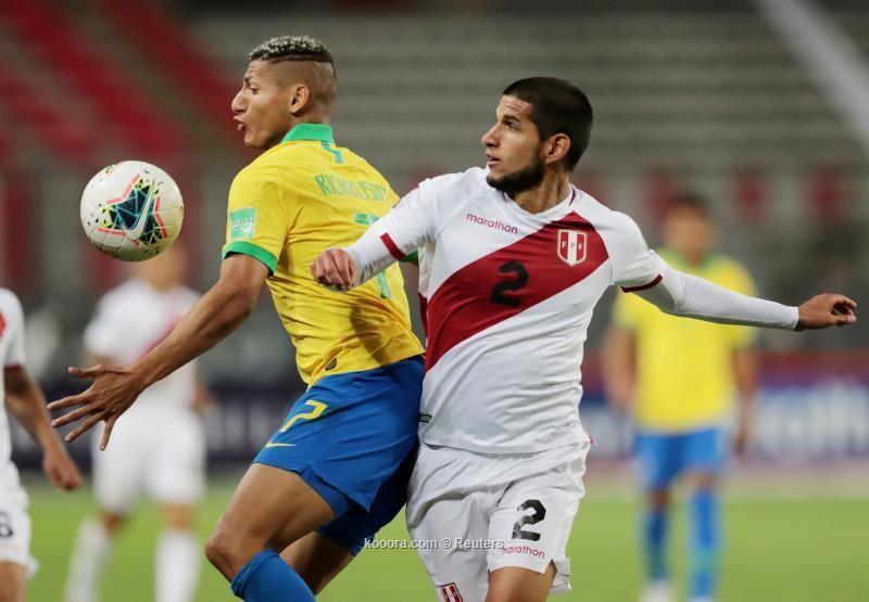 بالصور : البرازيل يتغلب على البيرو بهاتريك نيمار داسيلفا