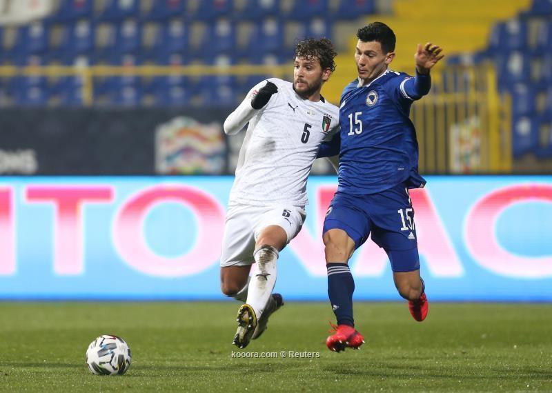 بالصور: إيطاليا تبلغ نصف نهائي دوري الأمم بثنائية في البوسنة
