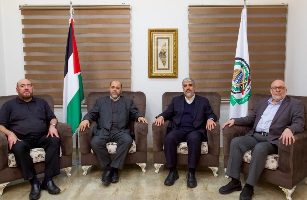شاهد: أول صور لمشعل وأبو مرزوق بعد انتخابهما لقيادة حماس في الخارج