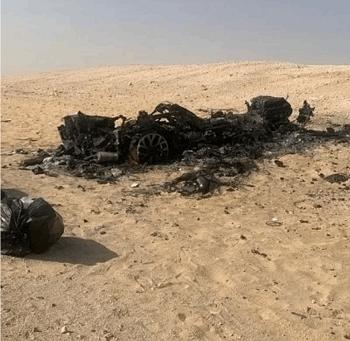 """شاهدوا   ابن الفنانة الإماراتية """"أحلام"""" يتعرض لحادث خطير وسيارته تحترق بالكامل"""