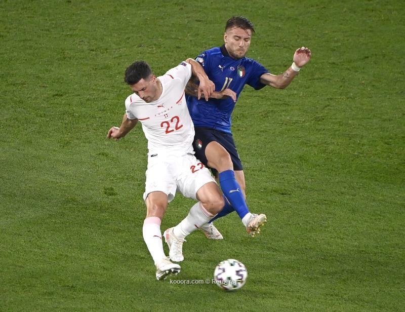بالصور: إيطاليا تضرب سويسرا بثلاثية وتبلغ دور ال16