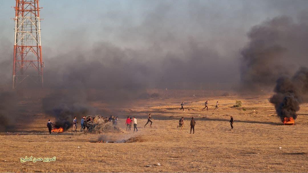شاهد: بدء فعاليات الإرباك الليلي على حدود قطاع غزة