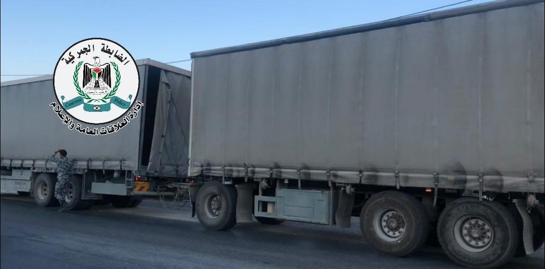 """ضبط شاحنة محملة بـ25 طن بطيخ مهربة من """"إسرائيل"""" شرق نابلس"""