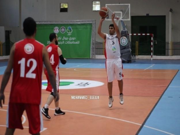 بالصور : ديربي البريج ورفح يبتسم للخدمات في كأس كرة السلة