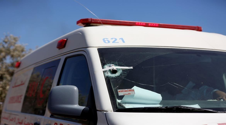الاحتلال يستهدف سيارة إسعاف خلال مواجهات في جبل صبيح