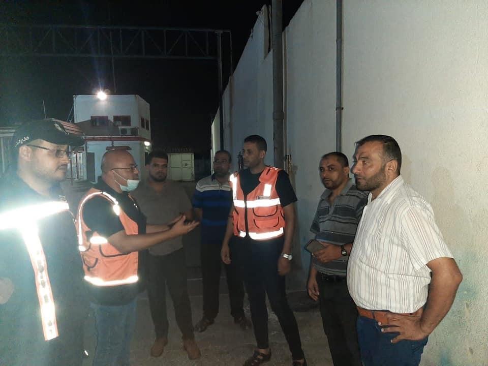 الدفاع المدني يتمكن من السيطرة على تسرب غاز بأحد المحطات شمال القطاع