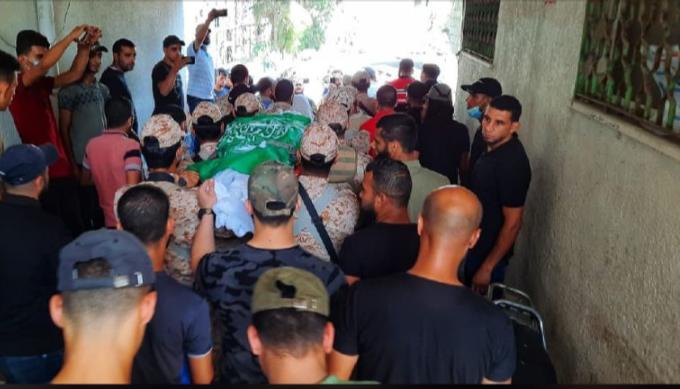 تشييع جثمان الشهيد أسامة ادعيج شمال غزة