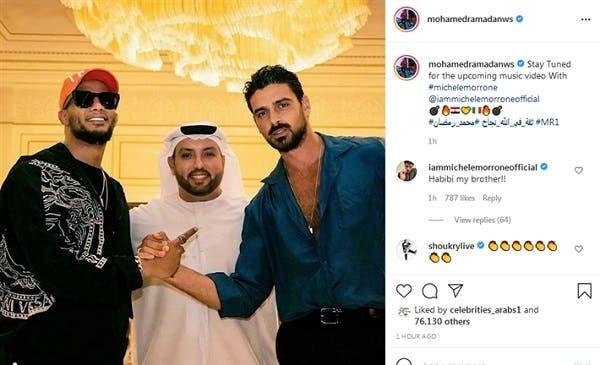 """شاهدوا   ممثل إفلام إباحية إيطالي شهير يورط  الفنان المصري """"محمد رمضان"""".. ما القصة"""