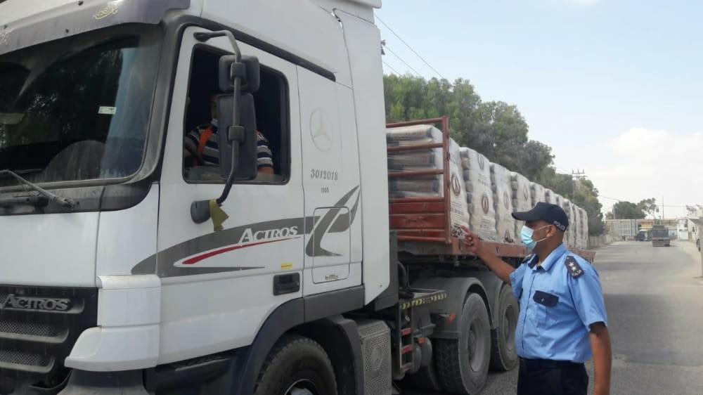 الاحتلال يسمح بإدخال مواد بناء لغزة عبر كرم أبو سالم