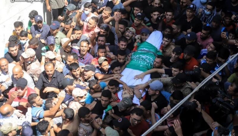 تشييع جثمان الشهيد أسامة إدعيج شمال القطاع
