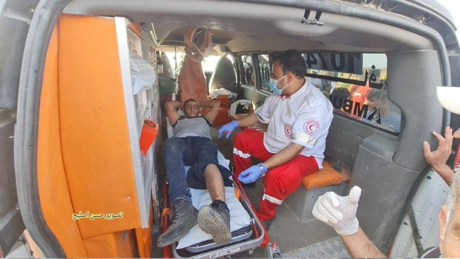 بالفيديو والصور: إصابة 41 مواطناً بجراحٍ مختلفة شرق مدينة غزة