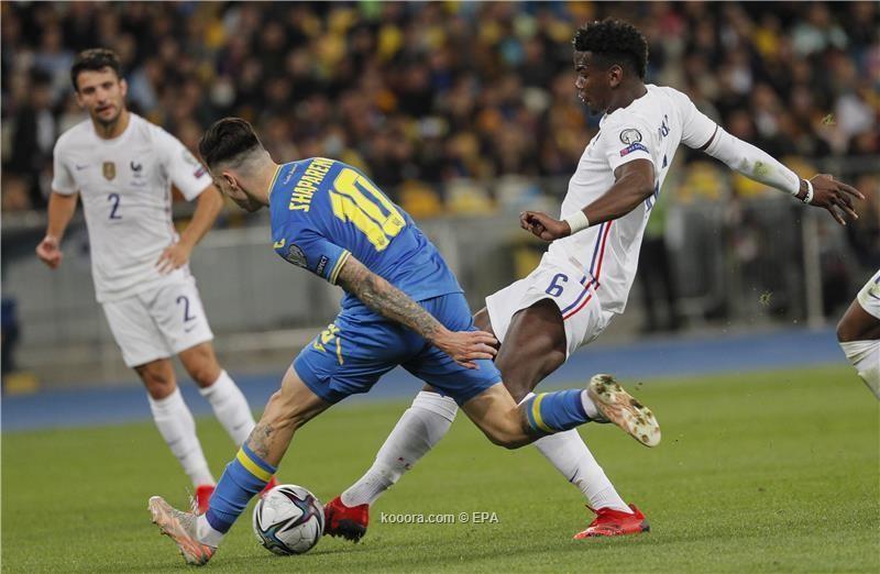 بالصور : المنتخب الفرنسي يتعادل مع منتخب اوكرانيا ايجابيا