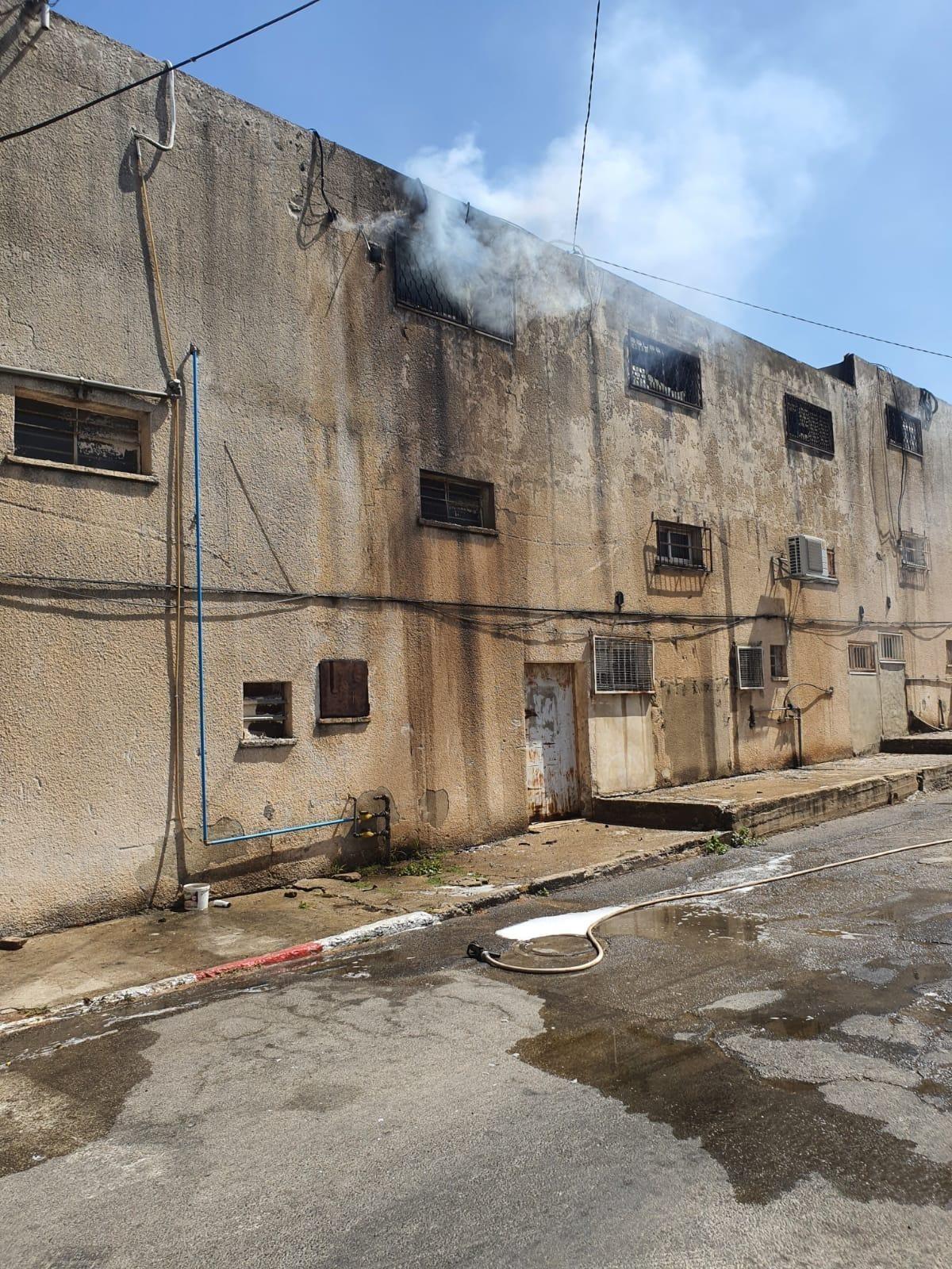 بالصور: اندلاع حريق في بلدية شفا عمرو بالجليل الغربي
