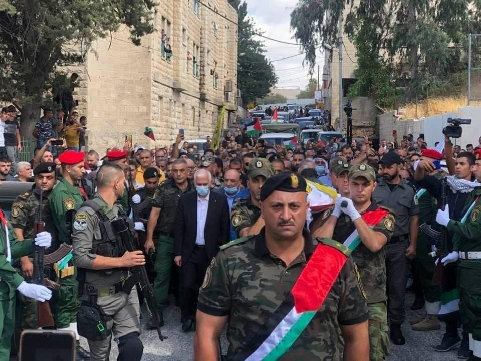 أهالي بيت لحم يُشيعون جثمان الشهيد حسين مسالمة