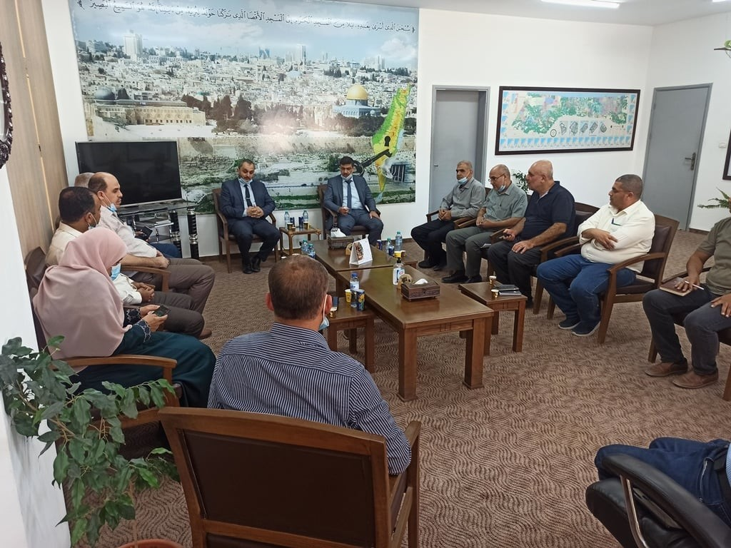 تفاصيل لقاء الغصين مع وكيل وزارة الزراعة بغزة