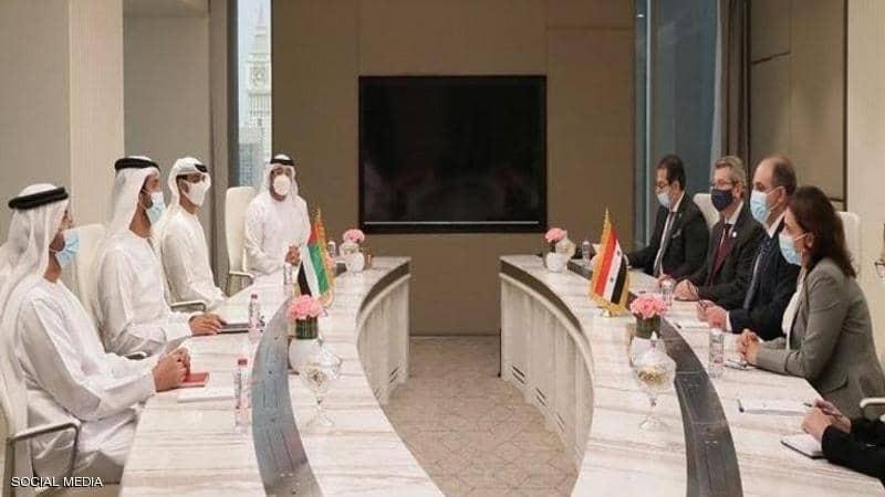 """""""الإمارات وسوريا"""" تتفقان على خطط لتعزيز التعاون الاقتصادي"""