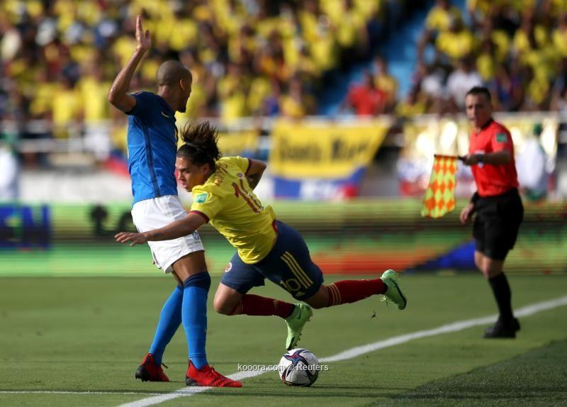 بالصور : كولومبيا تعطل قطار البرازيل بتعادل سلبي في تصفيات المونديال