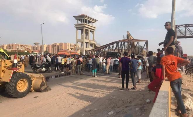 وفاة مواطن وإصابة آخر إثر انهيار كوبري في مصر